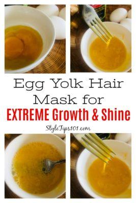 diy egg yolk hair mask