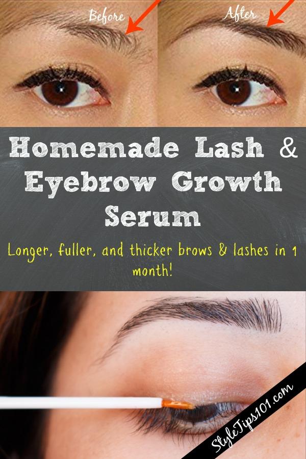 Homemade Lash Eyebrow Growth Serum