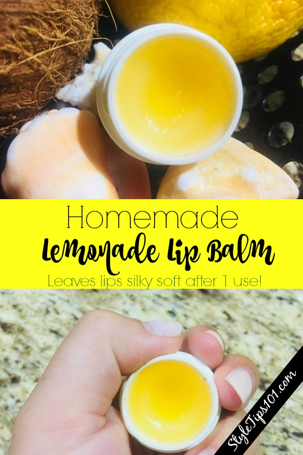 Homemade Lemonade Lip Balm