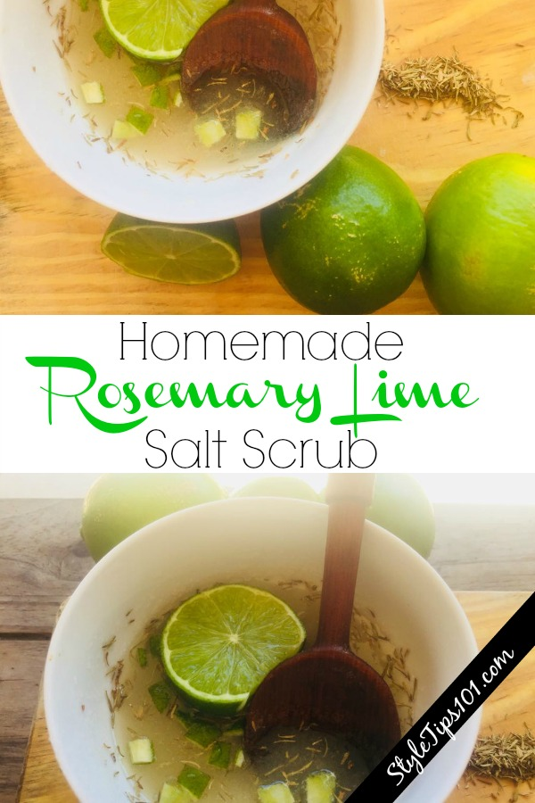 Homemade Rosemary Lime Salt Scrub