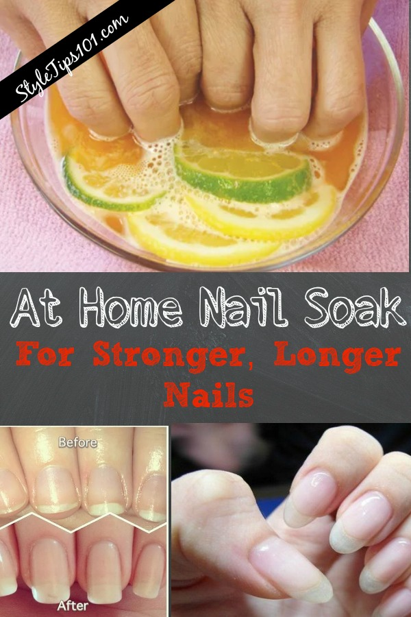 At Home Nail Soak