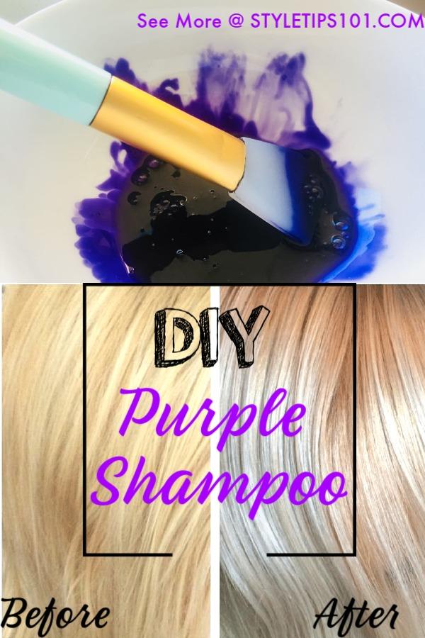 DIY Purple Shampoo