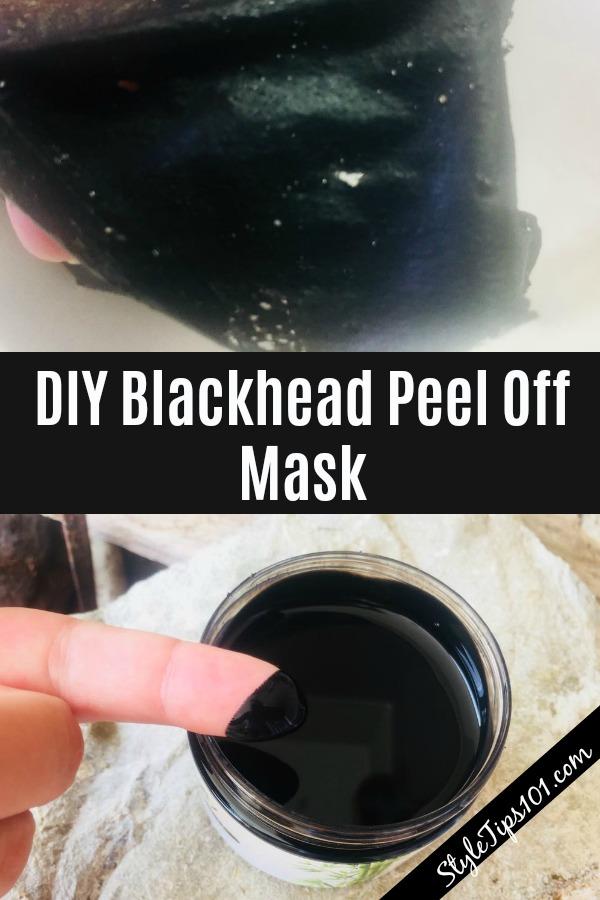 DIY blackhead peel off mask