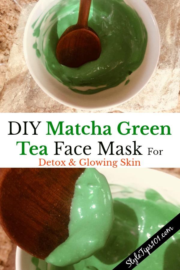 DIY matcha green tea face mask