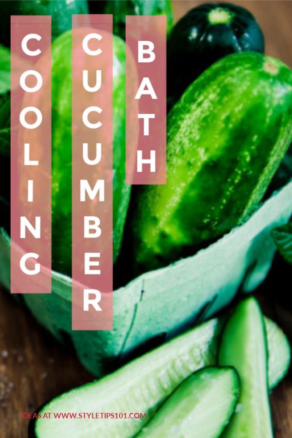Cooling Cucumber Bath
