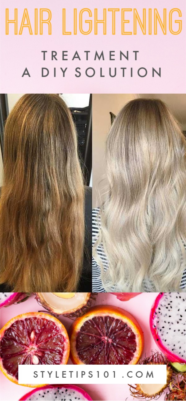 Hair Lightening Treatment