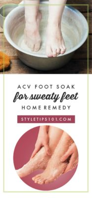 Home Remedy for Sweaty Feet