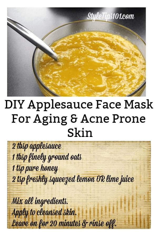 Applesauce Face Mask