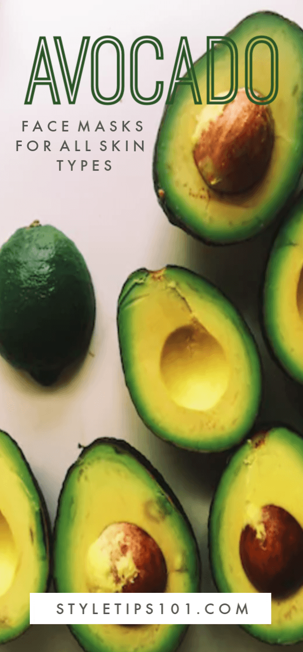 We\'ve compiled 3 of our favorite avocado face masks perfect for every skin type: acne prone/oily skin, dry skin, and combination skin. #avocadofacemasks #diybeauty