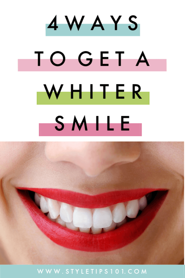 This guide will take you through 4 easy ways to get a whiter smile, all with natural remedies that actually work! #whiterteeth #whitersmile #diybeauty