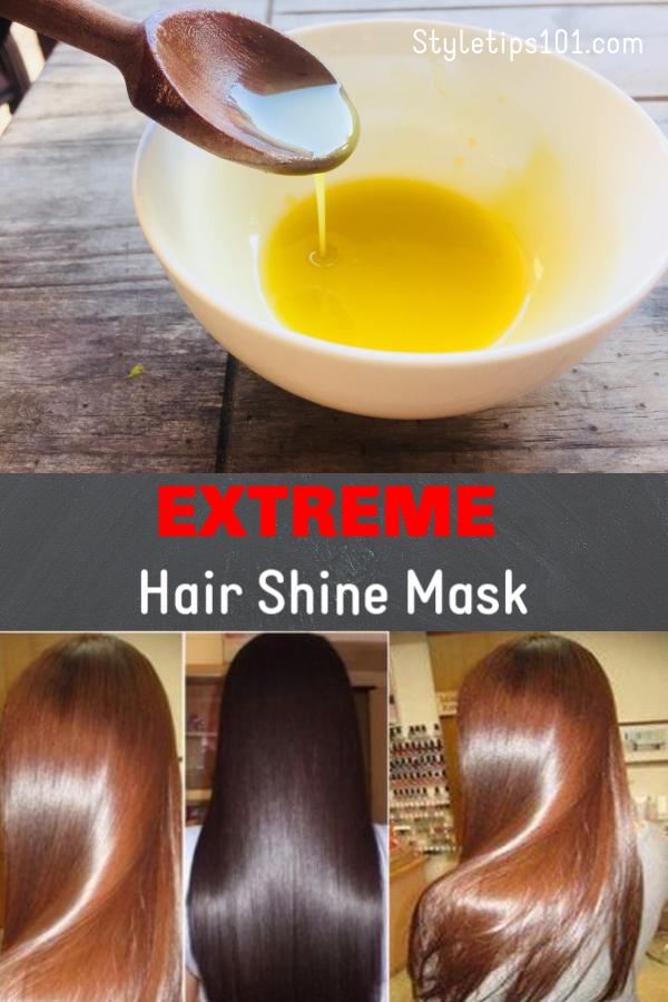 DIY Shiny Hair Mask