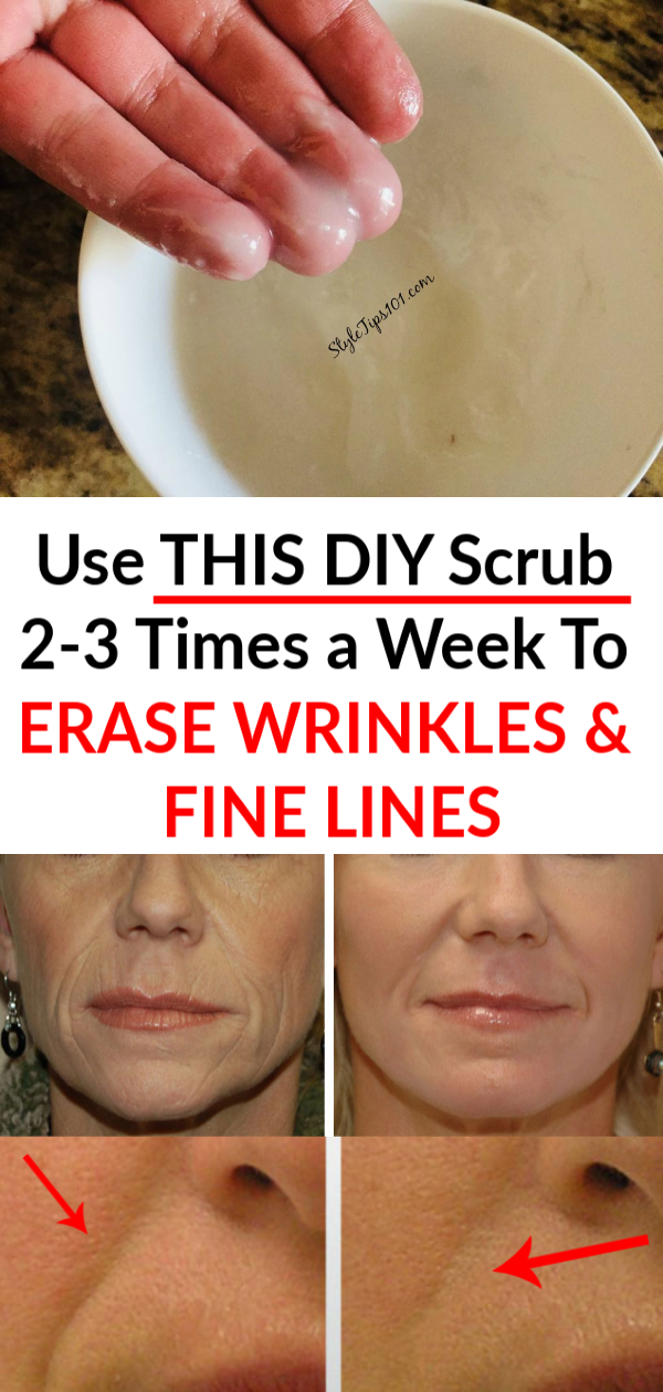 This all natural and simple homemade anti-aging face scrub will slough away dead skin cells and reveal smoother, younger looking skin in a pinch! #antiagingscrub #diybeauty
