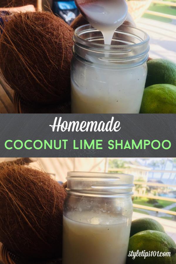 Homemade Coconut Lime Shampoo