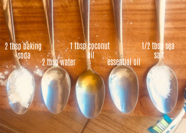 Homemade Toothpaste Ingredients
