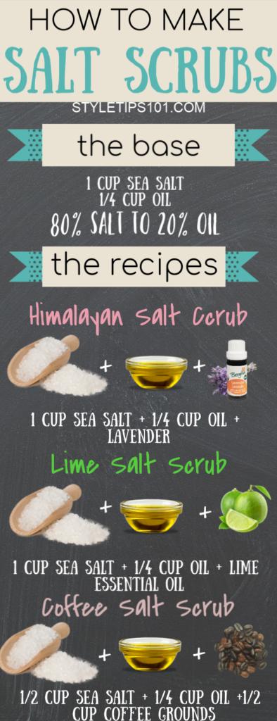 How to Make Salt Scrubs