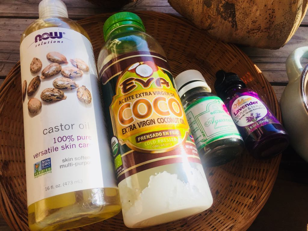 castor oil coconut oil avocado oil lavender oil