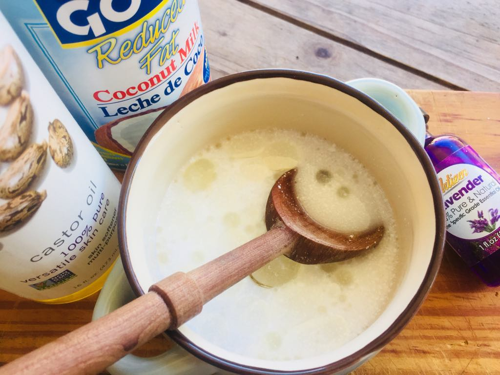 coconut milk castor oil