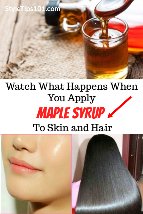 Maple Syrup Face and Hair Mask