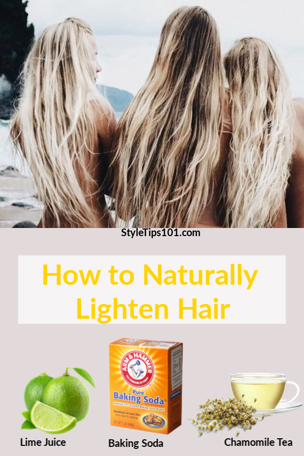 Get light and bright locks this spring with these all natural ways to lighten hair! These tried and true methods will safely & effectively lighten hair! #naturallylightenhair #hairlighteningtreatment
