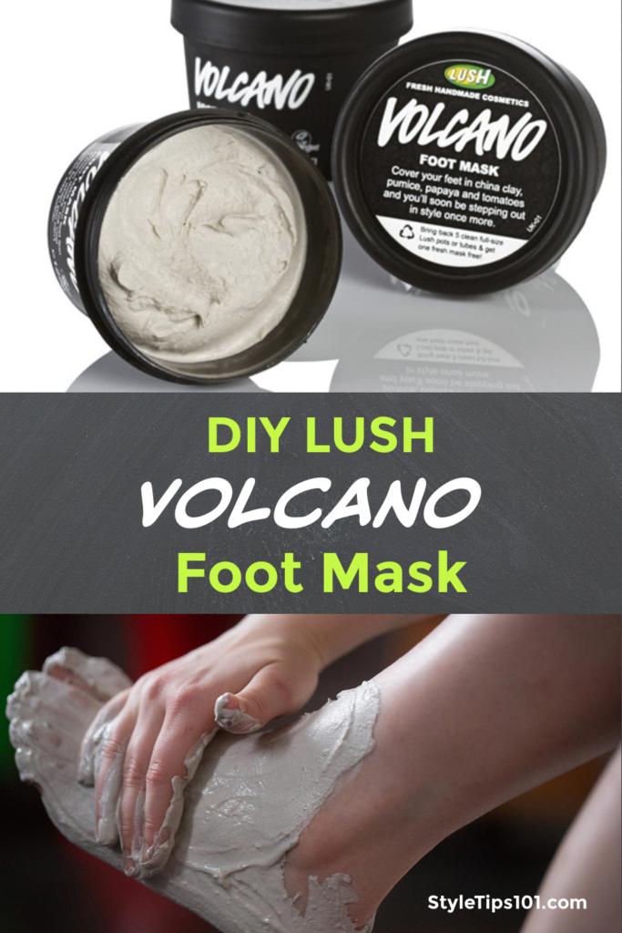 DIY Lush Volcano Foot Mask