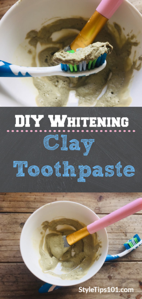 DIY Whitening Clay Toothpaste