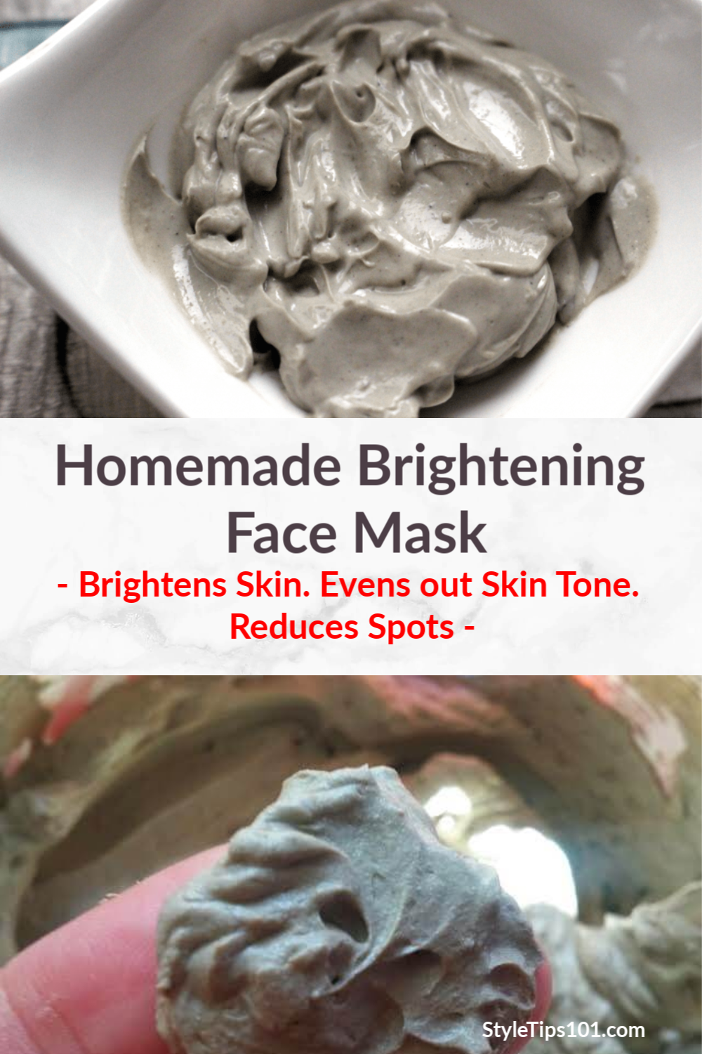 This homemade brightening face mask will work hard to slough off dead skin cells, hydrate