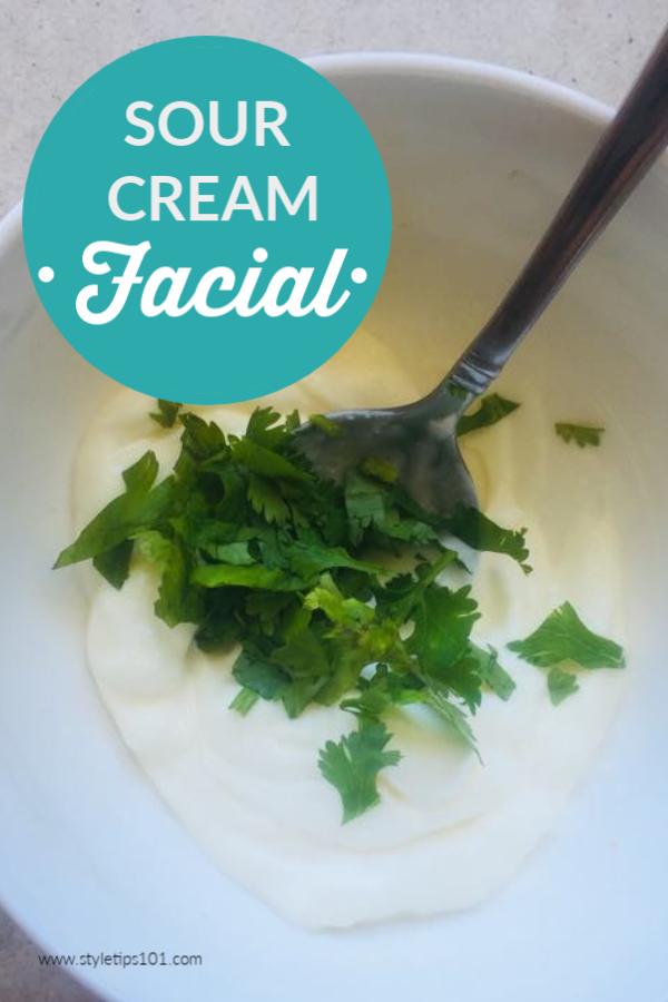 Sour Cream Facial