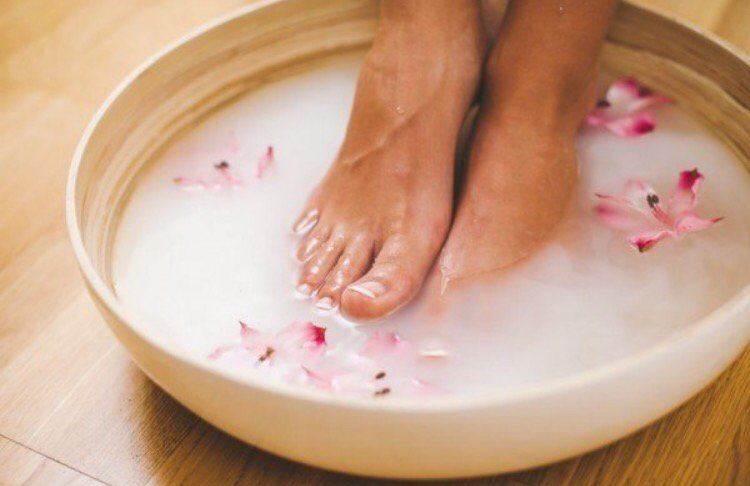 milk foot soak