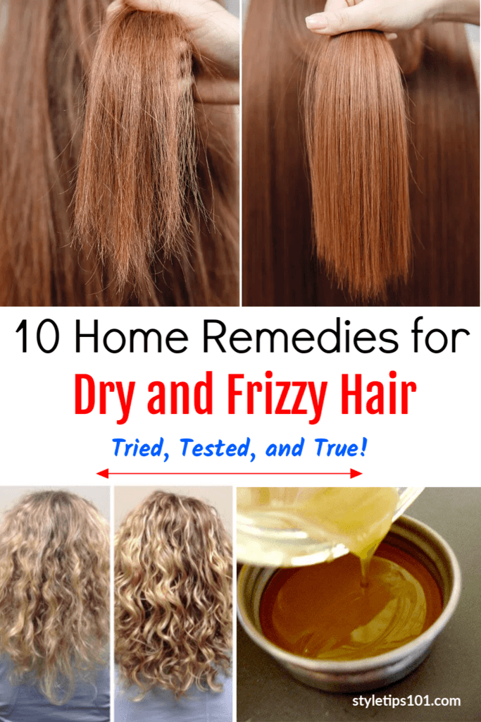 10 Home Remedies For Dry And Frizzy Hair